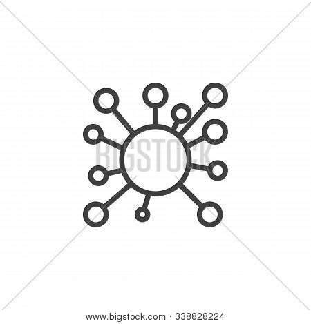Molecule Line Icon. Linear Style Sign For Mobile Concept And Web Design. Biology, Cell Outline Vecto