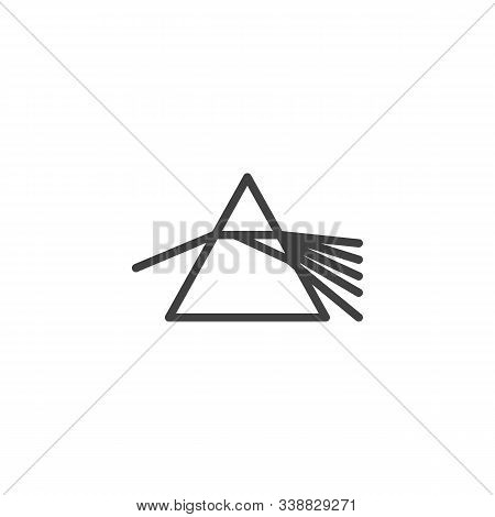 Prism Dispersing Light Line Icon. Linear Style Sign For Mobile Concept And Web Design. Prism Refract