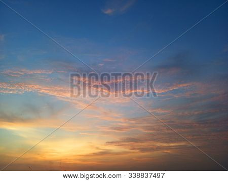Beautiful Sky Colors  View Background. Sky At Magic Hours Background. Colorful Sky Background. Copy