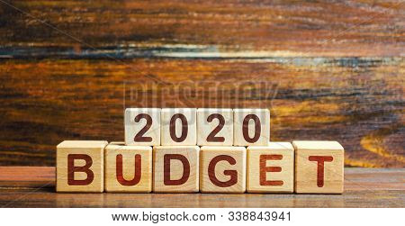 Blocks Budget 2020. Budget Planning For Next Year. Revenues And Expenses, Investment And Project Fin