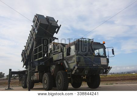 09/05/2019. Independence Day of Israel. Anti-missile tactical system of the Israel Defense Forces. On this day, military equipment of the Israel Defense Forces is exhibited at a military base.