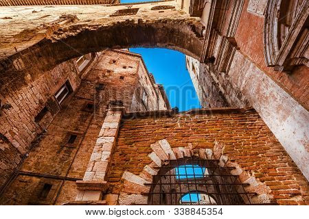 Perugia, Italy - October 26: Via Delle Volte Road In Perugia Historic Center, With Its Characteristi