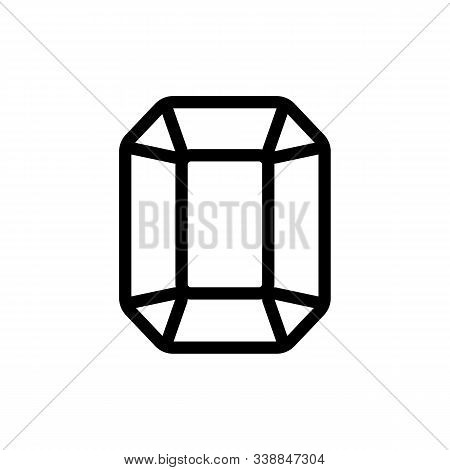 Topaz Icon Vector. A Thin Line Sign. Isolated Contour Symbol Illustration