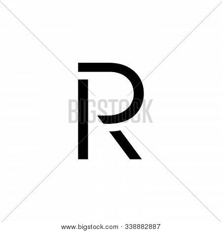 Letter Pr Simple Geometric Line Logo Vector