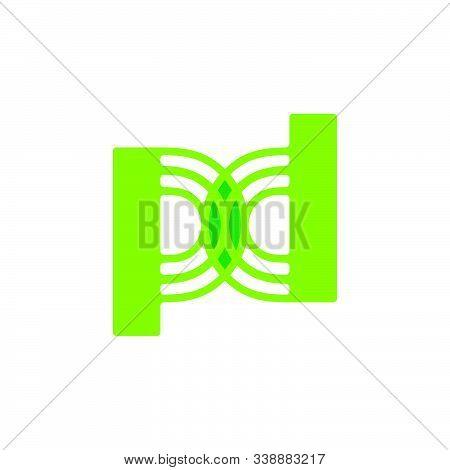 Letter Pd Green Leaf Design Symbol Vector