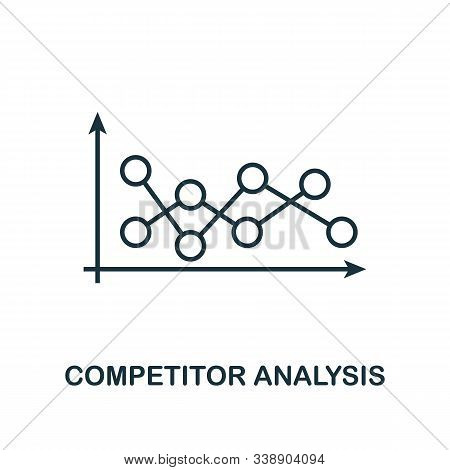 Competitor Analysis Icon. Line Style Element From Business Strategy Collection. Thin Competitor Anal