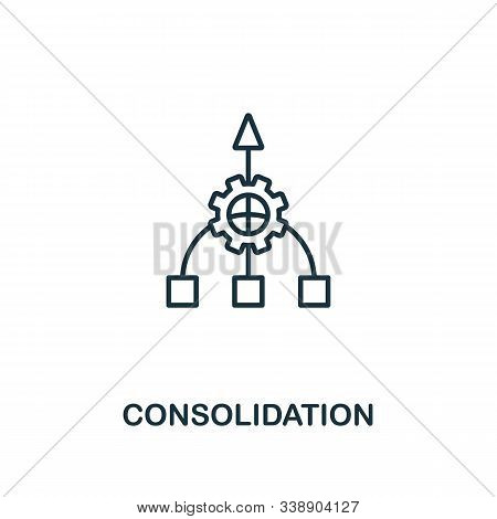 Consolidation Icon. Line Style Element From Business Strategy Collection. Thin Consolidation Icon Fo