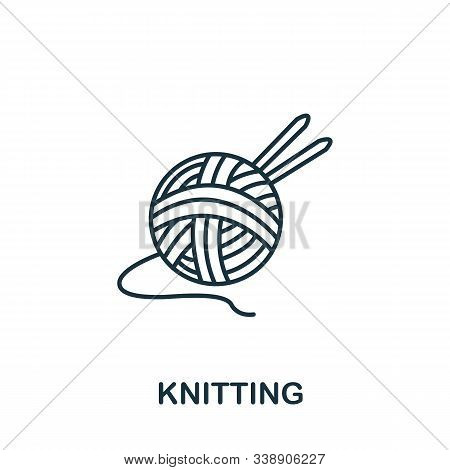 Knitting Icon From Hobbies Collection. Simple Line Element Knitting Symbol For Templates, Web Design