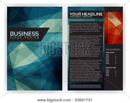 Blue Modern Brochure Template - EPS10 Vector Design