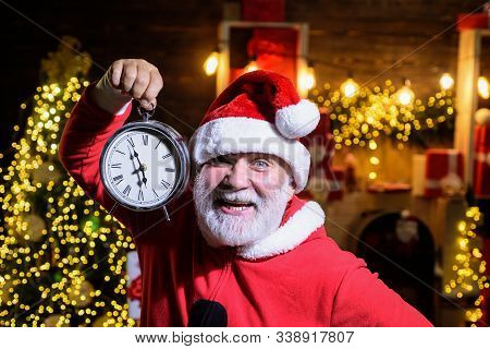 Christmas Time. Christmas Clock. New Year Clock. Time To Celebrate. Merry Christmas. Happy New Year.