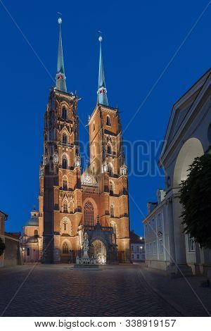 The Cathedral Of St. John The Baptist In Wroclaw, Is The Seat Of The Roman Catholic Archdiocese Of W