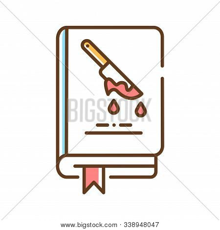 Horror Book Color Line Icon. A Genre Of Speculative Fiction Which Is Intended To Scare, Or Startle I