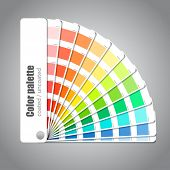Color palette guide on grey background poster