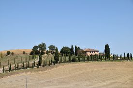 A Typical And Characteristic Construction On The Tuscan Hills In Italy