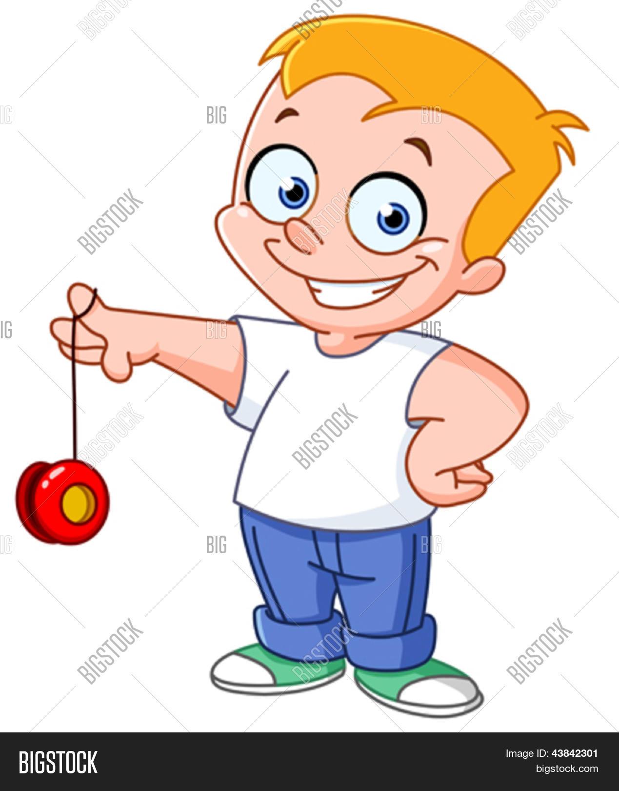 Kid Playing Yo-yo Vector  for Clipart Yoyo  75tgx