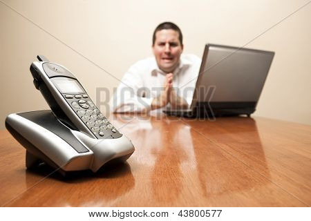 Businessman Begs For A Phone Call