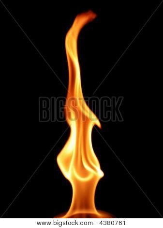 Uvulas of a bright flame against a very dark background poster