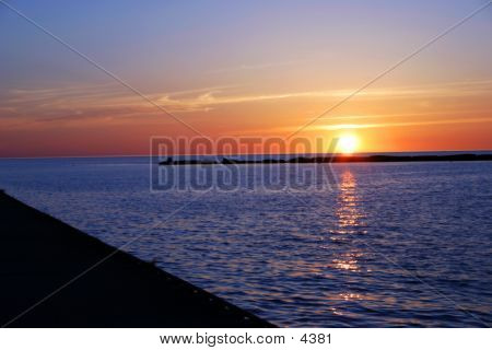 Sunset Over Big Water