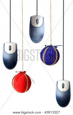Photo of Christmas balls and mice
