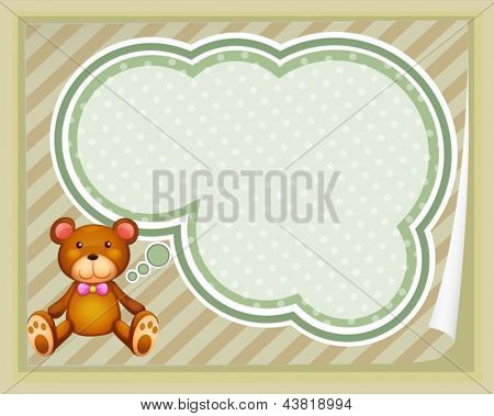 Illustration of a huggable bear with an empty callout