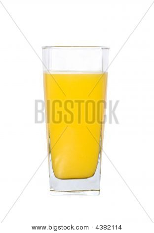 A Large Glass Of Orange Juice