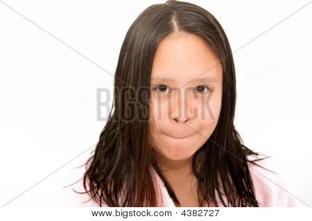 Young Girl Making A Face