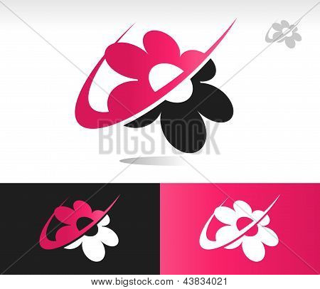 Flower Swoosh Icons