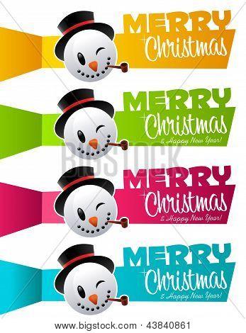 Christmas Snowman Banners