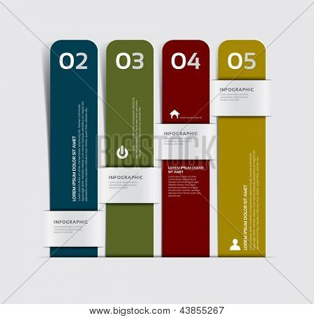 Inforgraphics Template Design, Graphic or Website layout vector