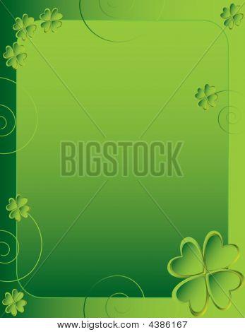 Four Leaf Clover Background 1