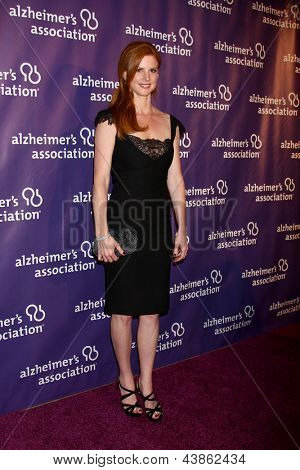 LOS ANGELES - MAR 20:  Sarah Rafferty arrives at the 21st Annual A Night at Sardi's to Benefit the Alzheimer's Association at the Beverly Hilton Hotel on March 20, 2013 in Beverly Hills, CA