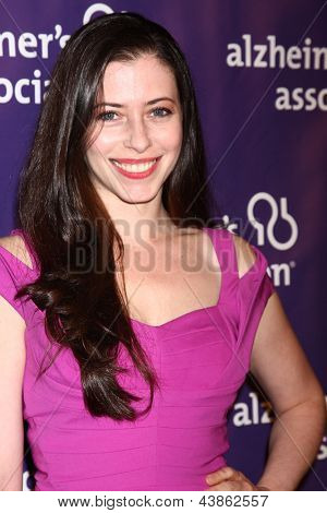 LOS ANGELES - MAR 20:  Lauren Miller arrives at the 21st Annual A Night at Sardi's to Benefit the Alzheimer's Association at the Beverly Hilton Hotel on March 20, 2013 in Beverly Hills, CA