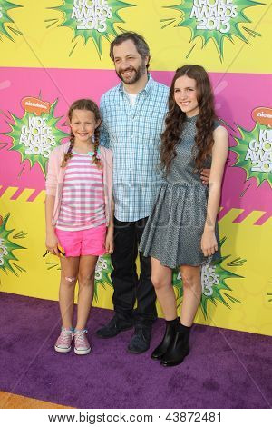 LOS ANGELES - MAR 23:  Judd Apatow, Family arrives at Nickelodeon's 26th Annual Kids' Choice Awards at the USC Galen Center on March 23, 2013 in Los Angeles, CA