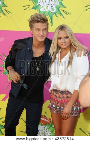 LOS ANGELES - MAR 23:  Cody Simpson, Alli Simpson arrive at Nickelodeon's 26th Annual Kids' Choice Awards at the USC Galen Center on March 23, 2013 in Los Angeles, CA