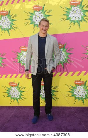 LOS ANGELES - MAR 23:  Alexander Ludwig arrives at Nickelodeon's 26th Annual Kids' Choice Awards at the USC Galen Center on March 23, 2013 in Los Angeles, CA