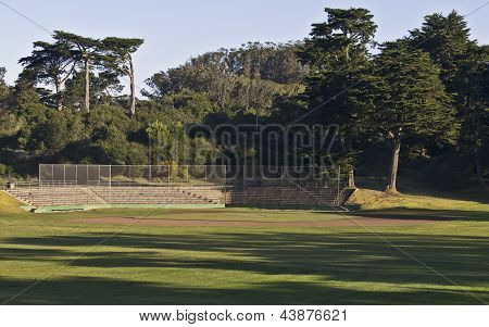 Baseball Field in Morning Light
