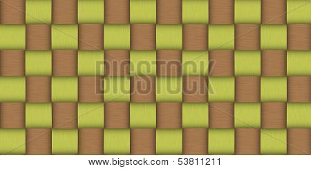 background texture of woven bamboo - large illustration background texture poster