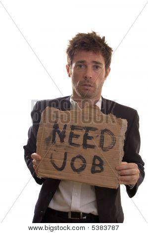 Desperate White Collar Worker