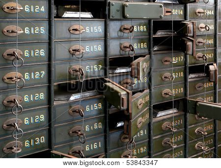 Lockers of a bank