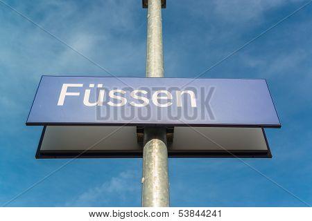 Fussen board, Bavaria, Bayern, Germany