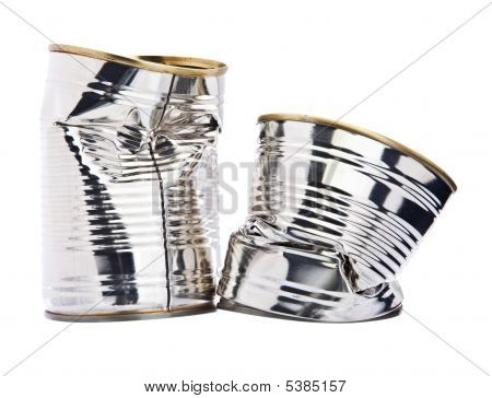Two Damaged Tin Cans