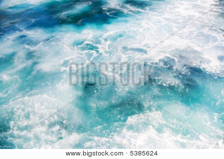 Foam On Ocean Water
