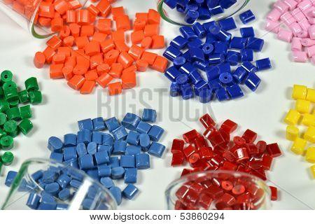 Polymer Resins On White