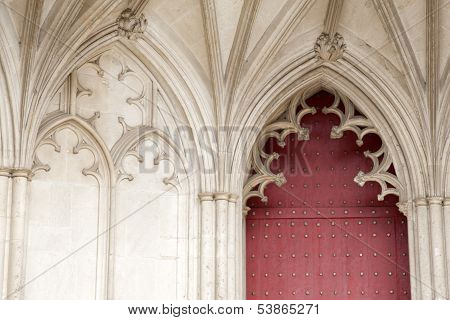 Door Of Winchester Cathedral Church