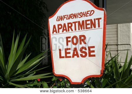 Apartment Lease Sign