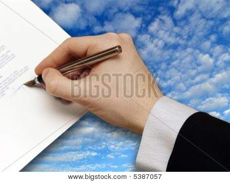 Signature Of Business Contract