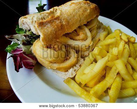 Calamari Sandwich.