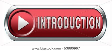Introduction or about us icon or button a biography or bio