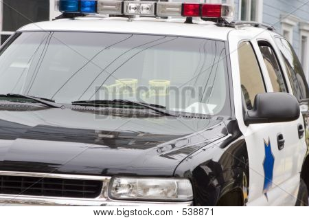 Police Car Up Close