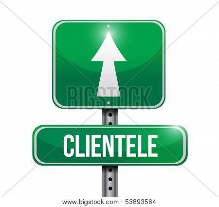 Clientele Road Sign Illustration Design